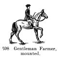 Gentleman Farmer, mounted, Britains Farm 598 (BritCat 1940).jpg