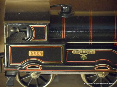 """George the Fifth"" loco, Bing for Bassett-Lowke, black LNER livery"