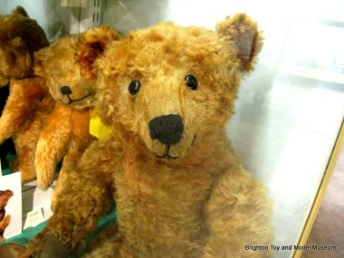 "George the Steiff Bear, in the museum's ""Teddybears' Picnic"" display"