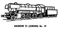 German Baureihe 23 locomotive, lineart (Kitmaster No19).jpg