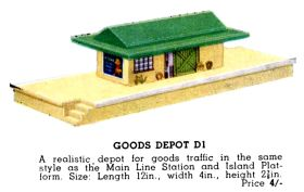 Dublo Goods Dept D1, colour illustration from the 1939 Hornby Book of Trains