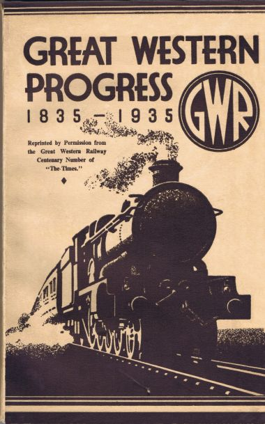 "1935 100-year Anniversary publication, ""Great Western Progress: 1835-1935"""