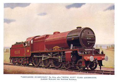 Royal Scot Class locomotive 6110 Grenadier Guardsman