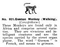 Guernon Monkey (Walking), Britains Zoo No921 (BritCat 1940).jpg