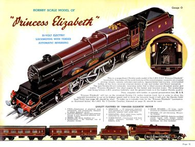 1938: Detailed specifications of the model, from The Hornby Book of Trains 1938-39