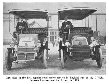 "1903: GWR's Cornwall ""Helton and Lizard"" bus service"