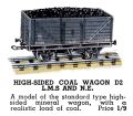 High-Sided Coal Wagon, Hornby Dublo D2 (HBoT 1939).jpg