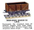 High-Sided Wagon LMS, Hornby Dublo D2 (HBoT 1939).jpg