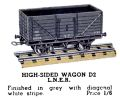 High-Sided Wagon LNER, Hornby Dublo D2 (HBoT 1939).jpg