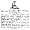 Himalayan Bear (Sitting), Britains Zoo No965 (BritCat 1940).jpg