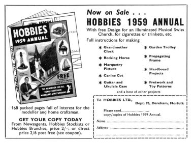 1959 Hobbies Annual