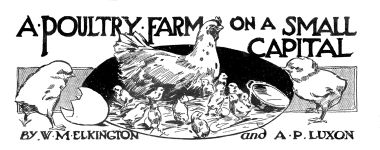 1913: Poultry farming, section artwork ...