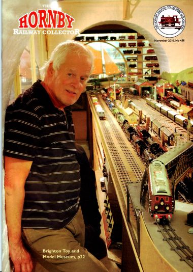 Chris on the cover of the Hornby Railway Collector magazine, Nov.2010