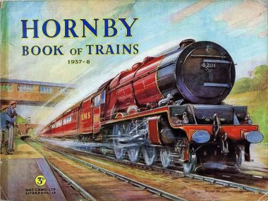 Princess Elizabeth Locomotive 6201, on the cover of the 1937 Hornby Book of Trains