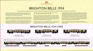 rear box artwork for the 2012 Hornby R2987 Brighton Belle EMU pack