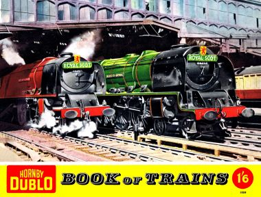 1959: Royal Scot train service on the cover of the Hornby Dublo Book of Trains