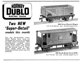 "1958: ""Super-detail"" plastic rolling-stock"