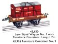 Hornby Low-Sided Wagon No1 (with Furniture Container 43,916) 42,150 (MCat 1956).jpg