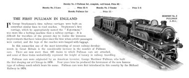 "1925: ""The First Pullman in England"", Hornby"