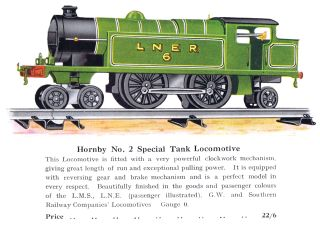Hornby No.2 Special Tank Locomotive (LNER version), 1929