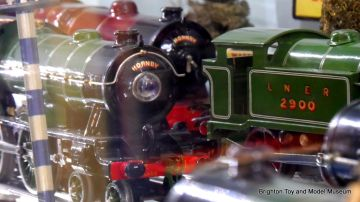 Some of the Hornby gauge 0 locomotives from elsewhere in the Museum
