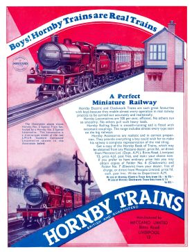 Hornby Trains advert, featuring LMS 1185 No.2 Special