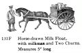 Horse Drawn Milk Float, Britains Dairy, with Milkman and Two Churns, Britains 131F (BritainsCat 1958).jpg