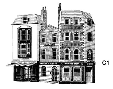 Hotel, Offices and Restaurant, low-relief models, Superquick C1