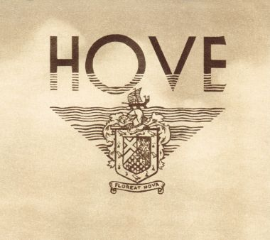 1936: Hove logo incorporating the coat of arms, Floreat Hova