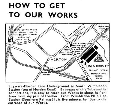 "1937: ""How to get to our works"""