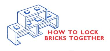 "~1957: ""HOW TO LOCK BRICKS TOGETHER"""