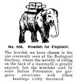 Howdah for Elephant, Britains Zoo No938 (BritCat 1940).jpg