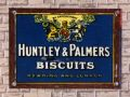 Huntley and Palmers biscuits, enamelled tinplate miniature poster.jpg