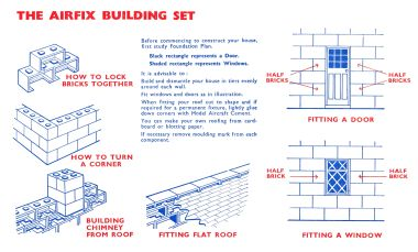 ~1957: Instructions page. Note the diamond-pattern windows.