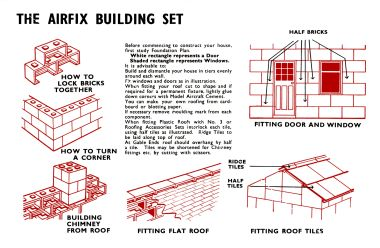 ~1959: Revised instructions page, including instructions for the new plastic roof system (set No.3)