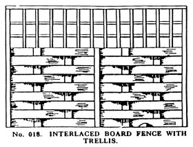 018: Interlaced Board Fence with Trellis