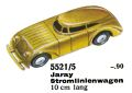 Jaray Stromlinienwagen - Streamlined Car, Märklin 5521-5 (MarklinCat 1939).jpg