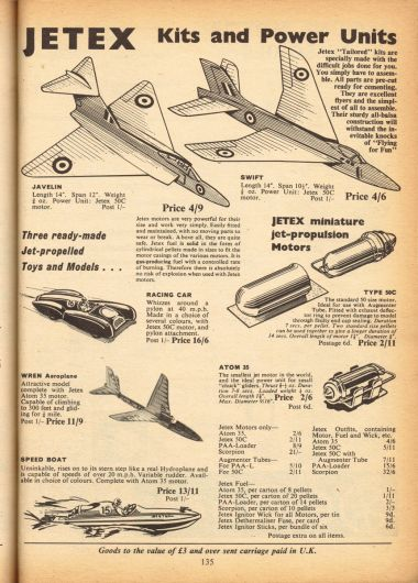 1966: Jetex Kits and Power Kits, Hobbies Annual