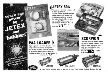 "1967: ""Space age power by Jetex and Hobbies"""
