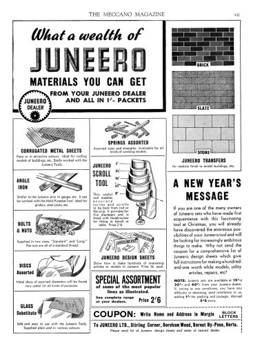 1941 Juneero advert featuring the scroll Tool
