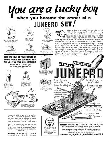 A full-page advert for Juneero (December 1939)