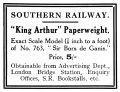 King Arthur Paperweight, Southern Railway (TRM 1925-09).jpg