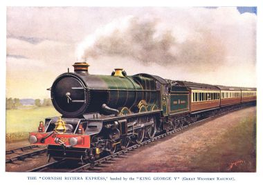 GWR 6000 KING GEORGE V, hauling the Cornish Riviera Express