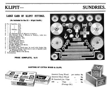 1916: Klipit Sundries and spares