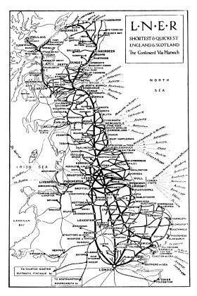 1925: map of LNER routes including shipping