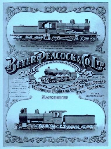 Beyer Peacock & Co Ltd paper label
