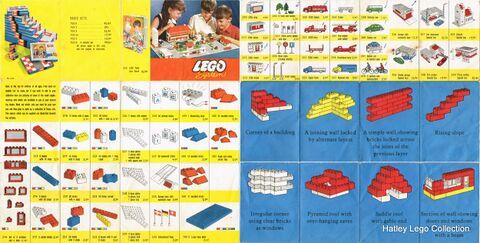 Lego System single-sheet catalogue (Lego ~1960) - The