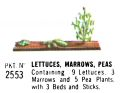 Lettuces, Marrows, Peas, Britains Floral Garden 2553 (Britains 1966).jpg