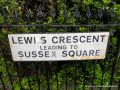 Lewes Crescent Brighton, altered street-sign.jpg