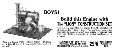 "1933: ""Lion"" stationary steam engine Kit"